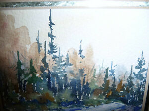 "Myrna Wilkinson ""Winter Shadows"" Original Small Watercolor Stratford Kitchener Area image 6"