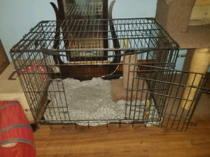 medium sized pet crate.