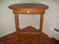 ANTIQUE PINE OVAL TABLE