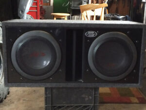 twin 12 inch alpine subs