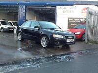 2007 black Audi A4 2.0TDI ( 170PS ) SE 120,000 full history top spec air con