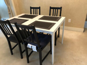 Dining Table with 4 chairs by IKEA