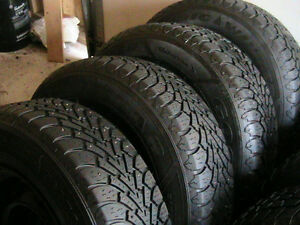 4 NORDIC WINTER TIRES.STUDDED ..215/70/15..$250 firm