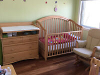 morigeau-lepine natural wood twins baby bedroom set