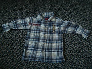 Boys Size 3 Long Sleeve Plaid Flannel Dress Shirt by Nevada