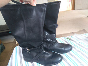 Wide Calf Black Boots