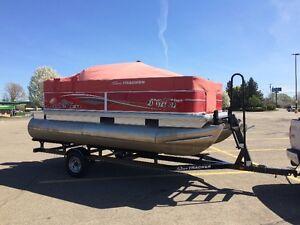 ponton  tracker bass buggy 16 2015 vivier moteur4 temps remorque