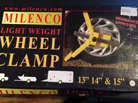 Caravan / motor home milenco wheel clamp