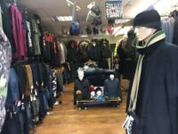 Menswear shop lease including stock for sale
