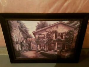 Large Painting/Wall Art with Black Frame