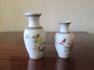 2 Beautiful Hand Painted Chinese Vases