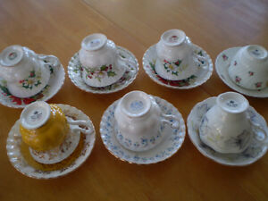 CUP AND SAUCERS ROYAL ALBERT, ADDERLY, HAND PAINTED Windsor Region Ontario image 2