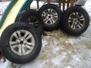 "Ford Ranger 16"" alloy rims with studded winter tires"
