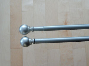 6' Curtain rods, two, $40 for pair