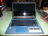 "Acer Aspire E14 Laptop 14"" Celeron N2840 2.1Ghz 500Gb HDD 2Gb Mem Win8 - Blue"