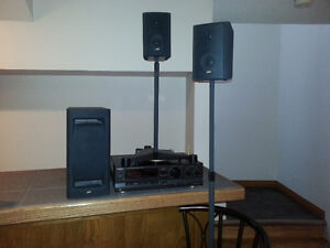 Home Theatre Speakers, Sub, and Stands Best Offer