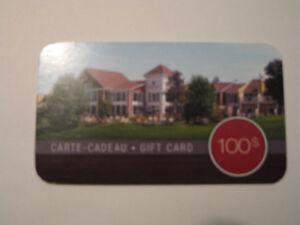 100$ Carte-cadeau Estrimont Suites et Spa à Orford GIFT CARD