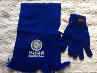 FRANKLIN MARSHALL Scarf Gloves RRP £69.90 one size