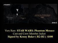 Super Rare STAR WARS Cast and Crew Member Jacket