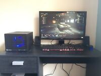 Gaming monitor speakers keyboard and mouse