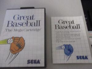 jeux Great Baseball sega master