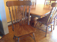 Solid Wood Antique Dining Set For 6 + China Cabinet