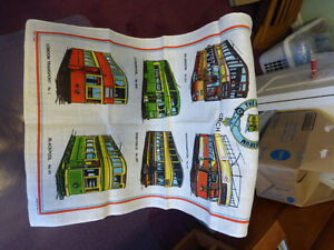 Tram/Steambus Colllection - Tea Towel, Cups and Thimbles Kitchener / Waterloo Kitchener Area image 2