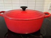 Le Creuset casserole dish oval