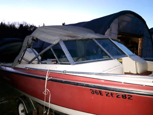 18 foot bow rider with 115hp out board motor. Trailer available