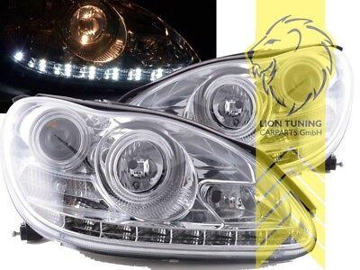 LED Tagfahrlicht Optik Scheinwerfer für Mercedes Benz W220 S-Klasse chrom XENON