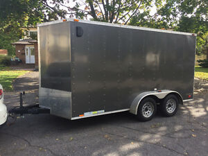 Mint Enclosed Forest River Cargo Trailer 2013 7x14