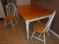 Birch Table with 2 Chairs
