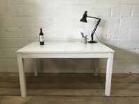 IKEA BJURSTA EXTENDABLE TABLE FREE DELIVERY WHITE