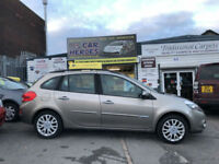 2010 RENAULT CLIO 1.2 DYNAM TOMTOM ESTATE LOW 49,000 MILES(AA)WARRANTED INCLUDED