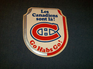 MONTREAL CANADIANS HOCKEY TEAM DECAL-GO HABS GO!-VINTAGE!