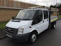 11(11) FORD TRANSIT 350 TWIN WHEEL DOUBLE CAB TIPPER 2.4 RWD 115BHP 6 SPEED