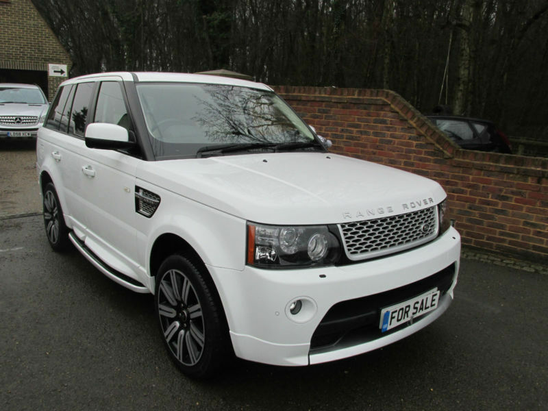 2012 62 land rover range rover sport 3 0 sdv6 auto autobiography white in kingsnorth kent. Black Bedroom Furniture Sets. Home Design Ideas