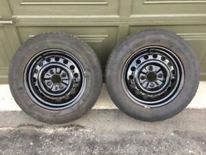 Two 4X114.3 Steel Rims For Winter Tires