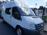 FORD TRANSIT 350 6 SEAT CREW VAN IDEAL FOR MUSICIANS OR MOTORCROSS