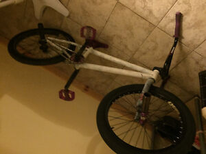 White and purple bmx