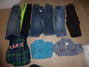Boys' winter clothing lots, size 18-24 $ 25, 2T $ 20, 3T $ 20