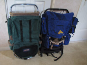 Two External Frame Backpacks