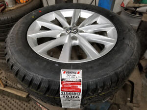 BNew 215 65 17 Uniroyal winters on OEM VW Tiguan alloys 5x112