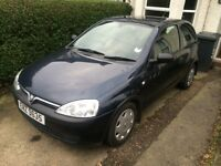 02 corsa years mot only 51000 miles