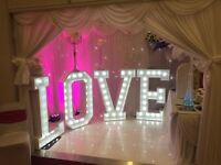Celebration time marquee letters hire
