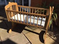 Mothercare Wooden Rocking Cot