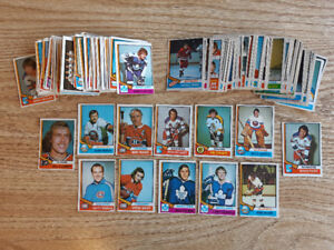 220 cards from O-Pee-Chee 1974-75 hockey card set