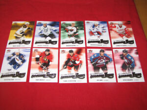 Nearly 60 different Ultra hockey insert cards-2005-06 to 2008-09
