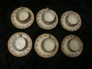 Vintage Limoge set of 6 Tea Cups and Saucers Peterborough Peterborough Area image 3