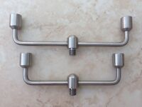 Pair of Steve Neville 2 Rod Stainless Swan Neck Buzzer Bars